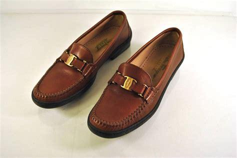 womens ferragamo loafers authentic salvatore ferragamo brown leather loafers womens