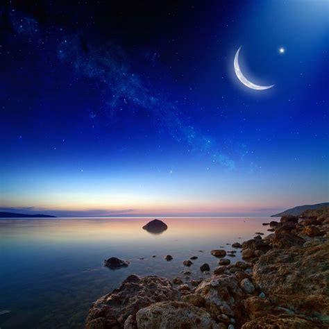 sukh e free wallpaper 月亮与夜空星空景色高清图片 素材中国16素材网