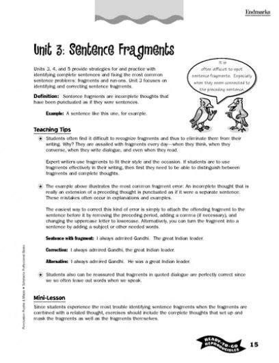 Run On Sentence Worksheet Pdf by Correcting Sentence Fragments Worksheets Free Worksheets