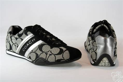 white coach sneakers coach jayme signature black white black sneakers shoes
