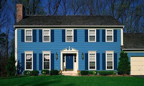 blue exterior house paint color quecasita