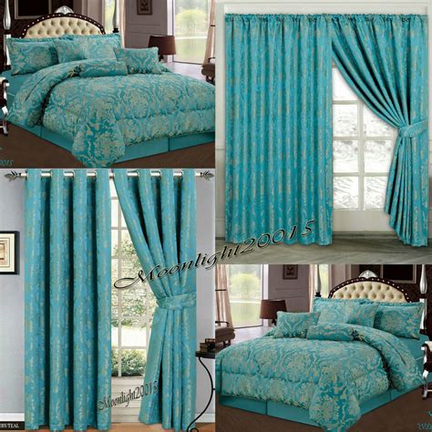Bedroom Curtains And Bedding by New Bedspread 7 Comforter Set R Teal Bedding Set