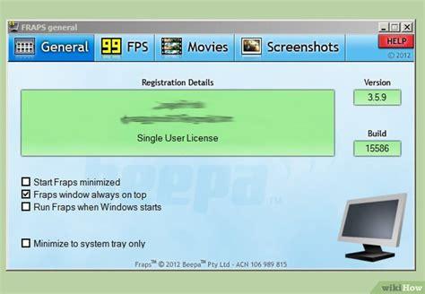 fraps full version gratuit 3 mani 232 res de enregistrer l 233 cran sous windows 7