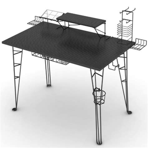 Atlantic Gaming Desk Black New Black Gaming Desk Tv Monitor Stand Accessory Organizer Table Ebay