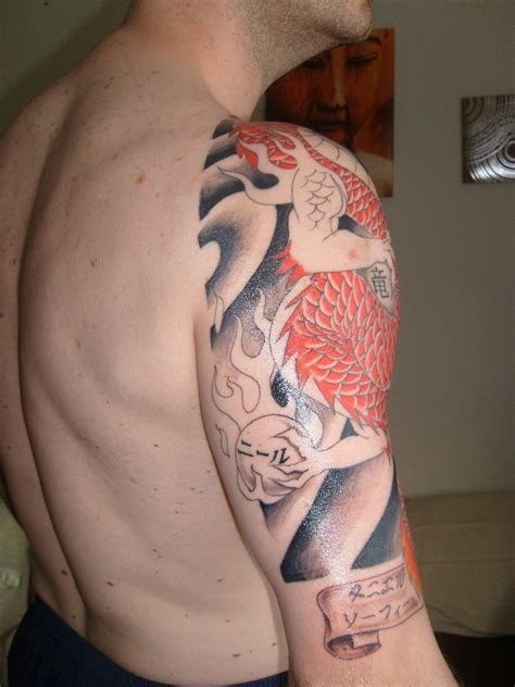 dragon half sleeve tattoo my half sleeve in progress tattoos photo 6146719
