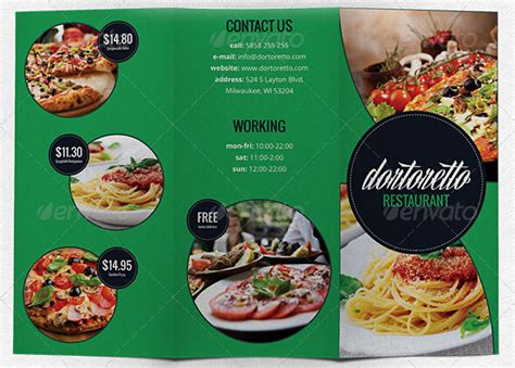 10 amazing food drink brochure templates free psd ai