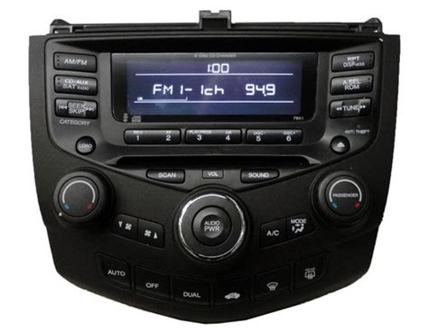 honda accord 2004 radio honda accord radio cd player 39175 sda l110 7bk1