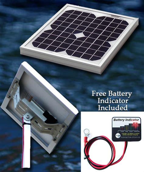 boat battery kit 10w 12v pvc marine solar charger kit