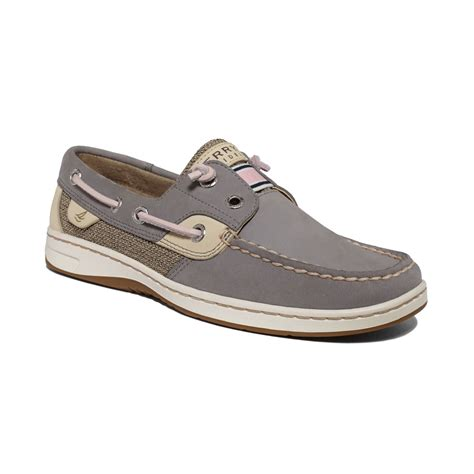 sperry top sider womens rainbowfish boat shoes in gray