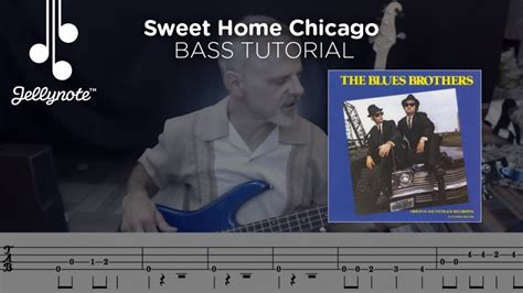 youtube tutorial bass sweet home chicago by the blues brothers bass tutorial