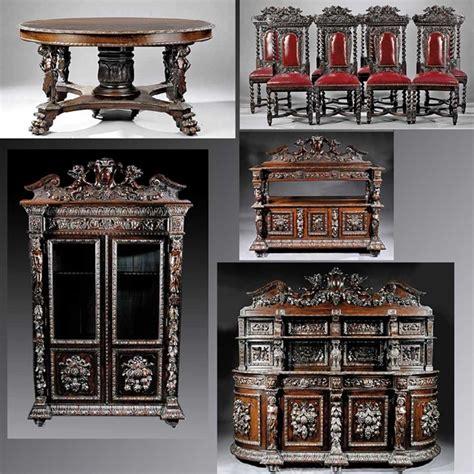 antique dining room set for sale antiques classifieds renaissance revival carved oak dining room suite for sale