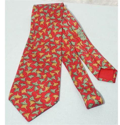 hermes silk tomato tie made in sold on ruby