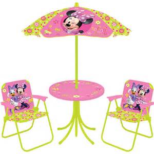 disney minnie mouse springtime garden 4 patio set walmart