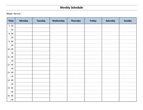 fillable weekly calendar template fillable daily planning calendar free calendar template