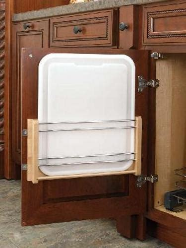 rev a shelf traditional quot door mount pie cut 2 shelf 18 quot door mount cutting board polyethylene 4dmcb 18p