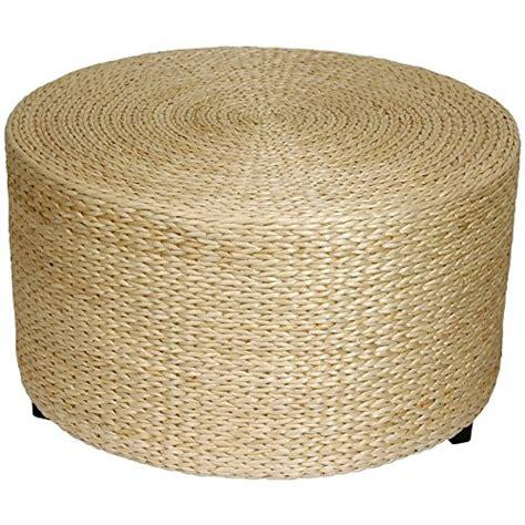 round seagrass ottoman rattan wicker ottoman footstools with storage
