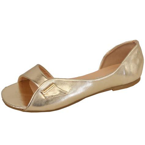 Toe Slip On Casual Shoes flat sandals womens slip on open toe