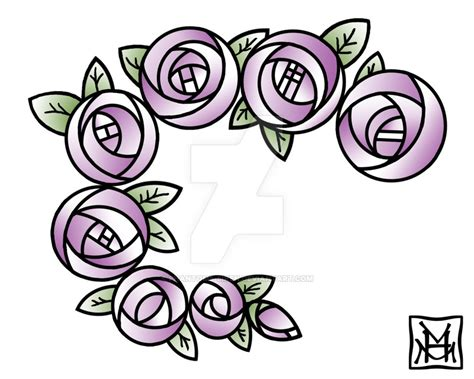 mackintosh roses tattoo by phantoms siren on deviantart