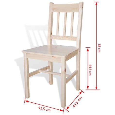tavola e sedie sedia da tavola legno colore naturale 4 pz vidaxl it