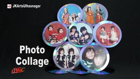 how to make a collage frame how to make a cd photo frame collage best out of waste