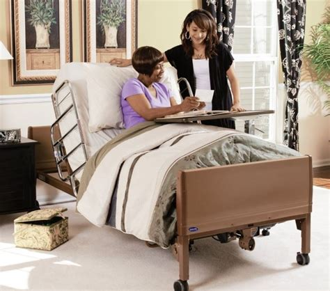 electric home care bed by invacare