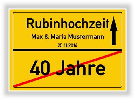 Hochzeit 40 Jahre by Ortsschild Bild Rubinhochzeit Hochzeit 40 Jahre