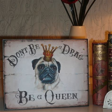 pug sign print picture painting home decor