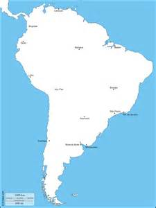 blank boundary map of south america