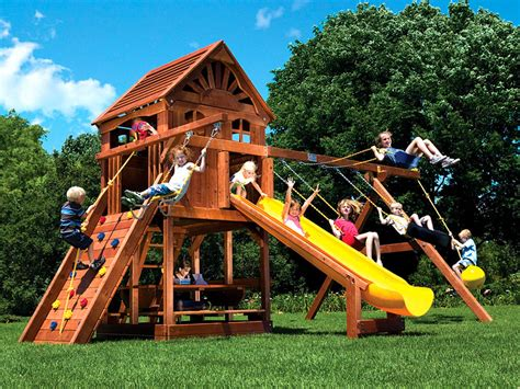 Residential Swingsets Rainbow Swing Set Superstores