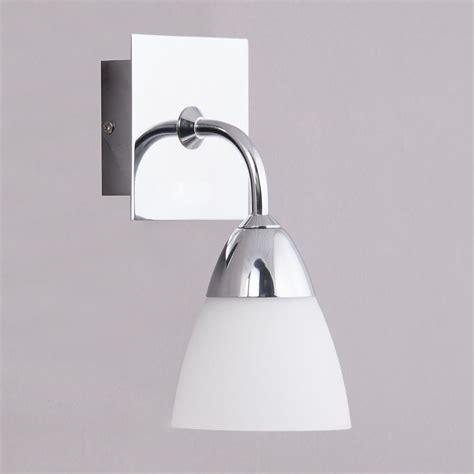Glass Bathroom Lights Aqua Glass Bathroom Wall Light 1 Light Polished Chrome