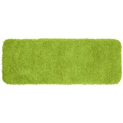 lime green bath rug garland rug jazz lime green 22 in x 60 in washable bathroom accent rug ben 2260 12 the home