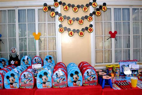 Birthday Giveaways Ideas In Divisoria - mickey mouse birthday party ideas photo 32 of 38 catch my party