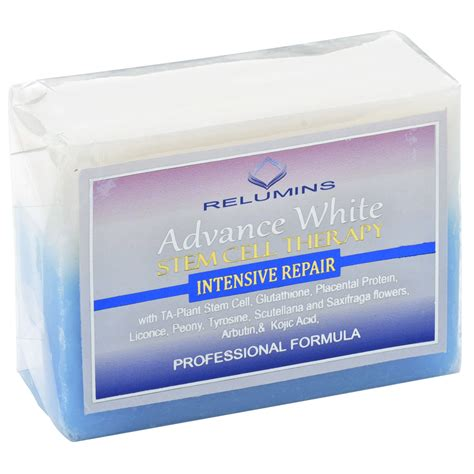 Soap Whitening relumins advance whitening soap with intensive skin repair stem cell therapy