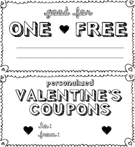 custom coupon book template personalized s day coupon book boyfriend