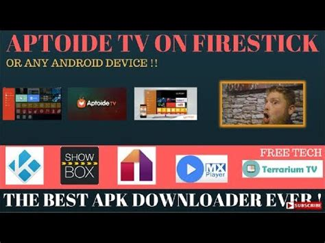 aptoide youtube tv free app store the new aptoide tv apk for firestick