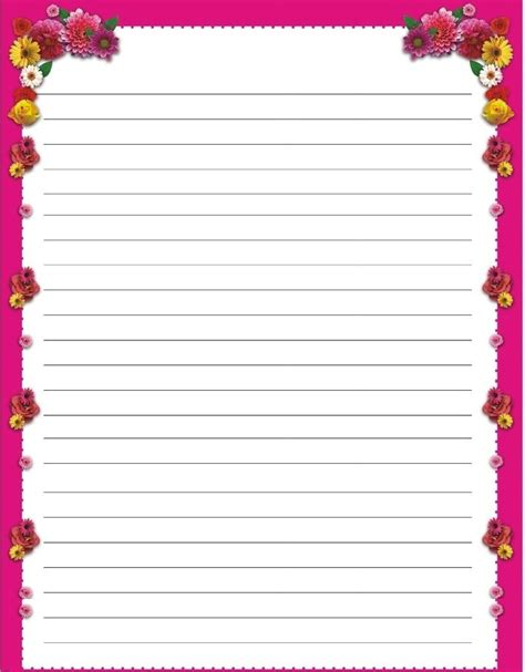 s day writing paper free printable s day writing paper