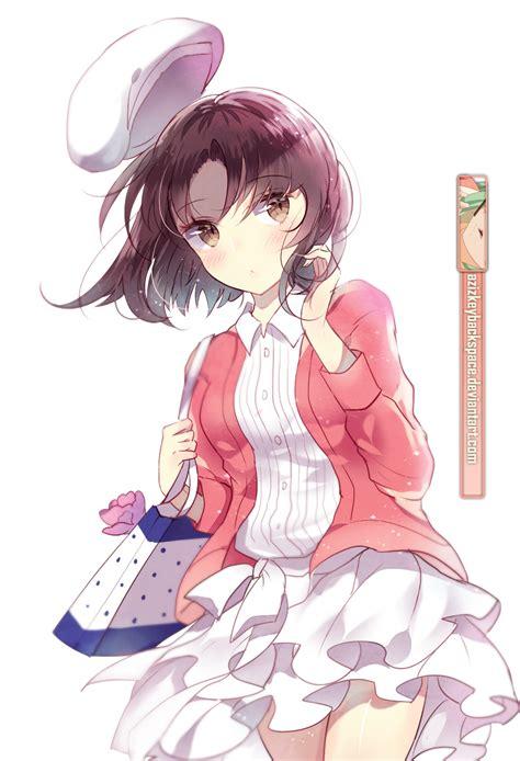 Cushion Anime Saekano Katou Megumi katou megumi saekano render by azizkeybackspace on