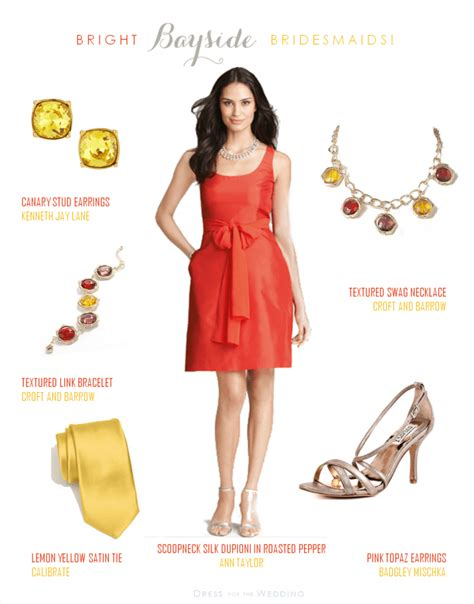 Red Orange Bridesmaid Dress