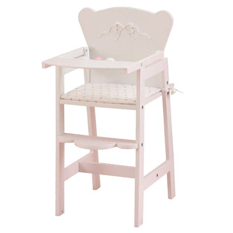 kidkraft bow wooden doll high chair shop kidkraft white bow high chair at lowes