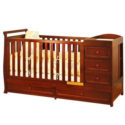 Afg Baby Daphne 3 In 1 Crib Changer Combo In Cherry Baby Cribs With Changer
