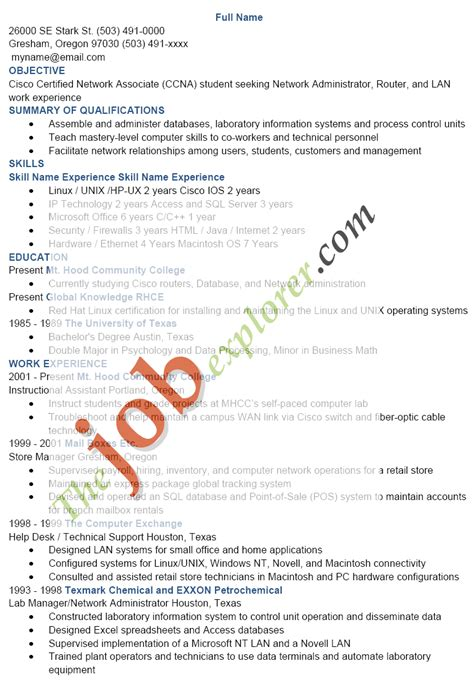 linux system administrator resume sle linux administrator resume 1 year experience 55 images