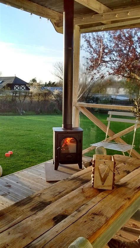 outsidegarden log burner garden room pavilion