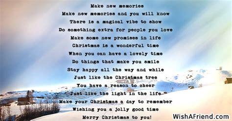 memories christmas poem
