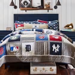 Toddler Bed Baseball Comforter Mlb Quilt Sham Pbteen