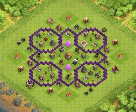 coc map layout th7 base th 7 defense trophy kumpulan base th coc november