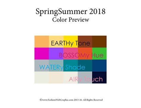 Pantone Color Forecast by Ss2018 Trend Forecasting On Pantone Canvas Gallery