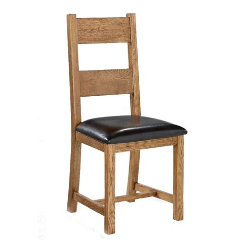 lpd dorset solid oak dining chair pair
