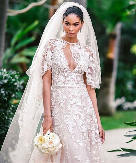 chanel iman married chanel iman just got married in a gown made by a middle