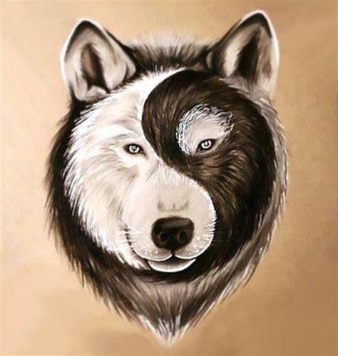 yin yang wolf tattoo best yin yang wolf design