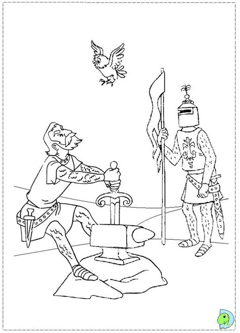 sword and the stone coloring pages